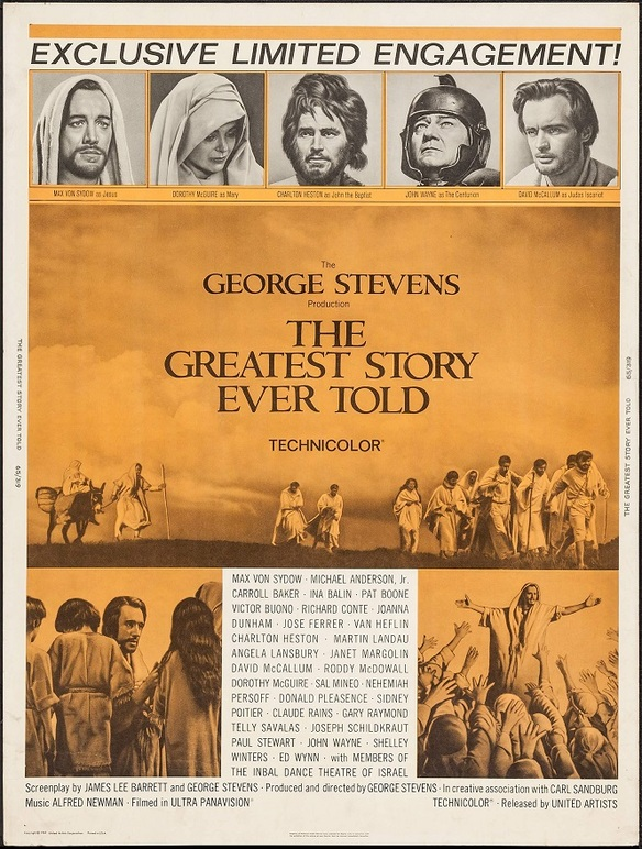 THE GREATEST STORY EVER TOLD BOX OFFICE USA 1965