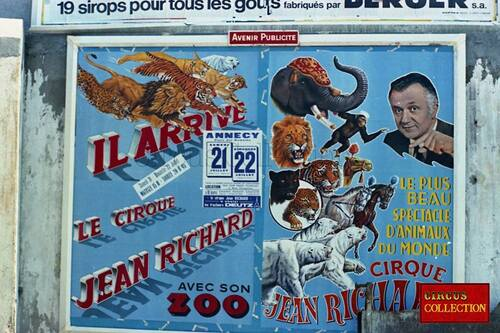 affichage Jean Richard ( archives Philippe Ros)