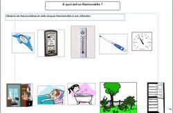 Le thermomètre CP et CE1