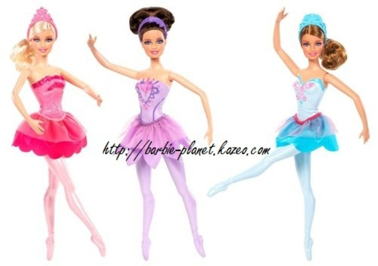 Poupées Barbie Rêve d'une Danseuse étoile Kristyn, Odette et Giselle