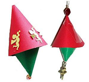 Noël - Cloches en papier - www.teteamodeler.com