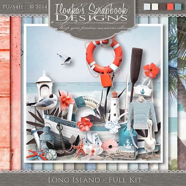 Long Island by Ilonka Scrapbook Designs