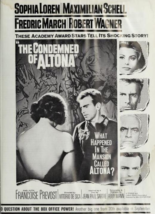THE CONDEMNED OF ALTONA BOX OFFICE USA 1963