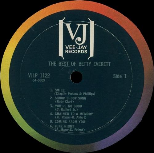 "Betty Everett : Album "" The Very Best Of Betty Everett "" Vee-Jay Records VJLP-1122 [ US ]"