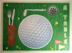 "Set de table ""golf"""