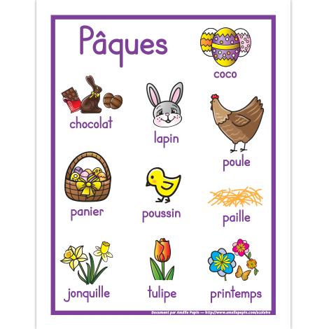 La fête de Pâques - słownictwo 1 - Francuski przy kawie
