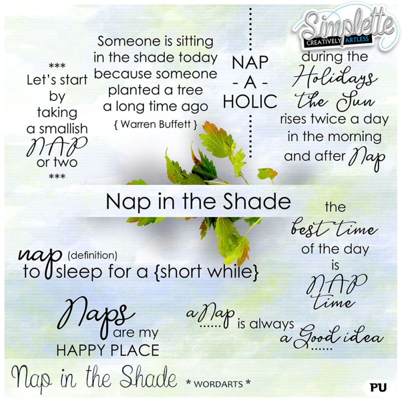 20 JUILLET : Nap in the Shade Simpl403