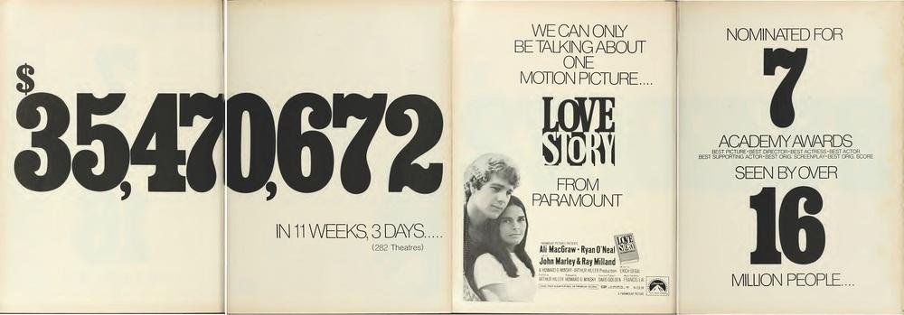BOX OFFICE USA DU 25 FEVRIER 1971 AU 3 MARS 1971