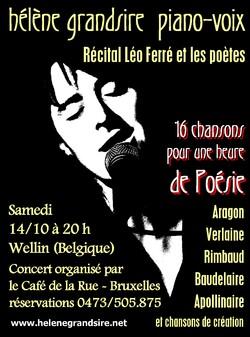 """Le récital """"Léo Ferré et les poètes"""" voyage..."""