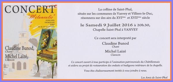 Concert à la chapelle Saint-Phal ...