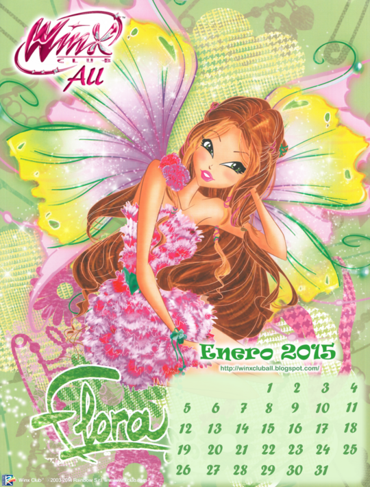 calendario winx club all enero 2015 by winxcluball