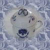 petit pot porcelaine de Chantilly