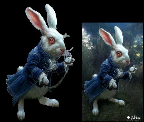le lapin blanc - Alice au pays des merveilles