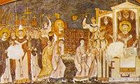 Saints Cyrille et Méthode amenant les restes de Saint Clément à Rome