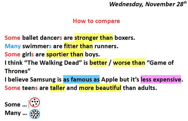 How to compare
