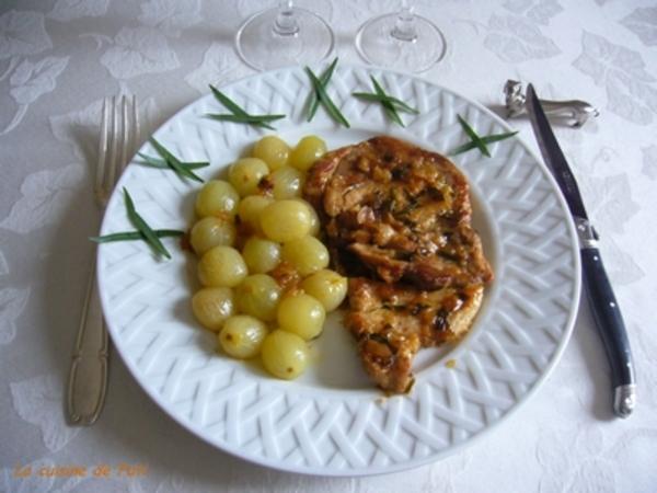 Sauté de porc au raisin