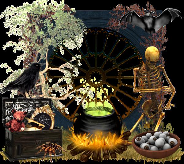 divers éléments halloween