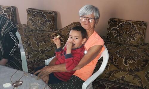 avec le petit Tarak