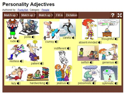 CM2/1 - Characters' Characters: ADJECTIVES