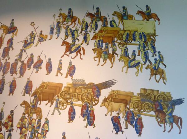 Muséo parc Alésia - le train des bagages des gaulois