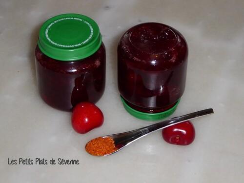 Confiture de cerises au piment d'Espelette