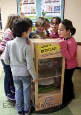 Exposition «Les experts du papier » d'Eco-folio à l'école du 26 au 29 janvier