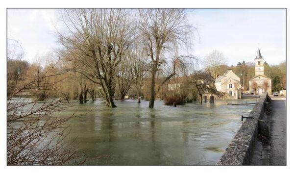 Pluie et neige à Châtillon sur Seine, de très belles photos de Dominique Masson