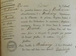 Extrait d'un registre d'état civil