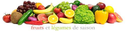 Menus Mensuel : Fruits et Légumes de Janvier