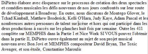 david bryan-Joe DiPietro parle de Memphis et de l'implication de Dave mais aussi d'une nouvelle collaboration pour Chasing the Song.