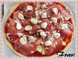 pizza jambon cru/mozzarela