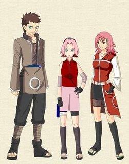 les parent de Sakura ( dsl je sais pas comment ils s'appellent )