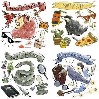 Image de gryffindor, hogwarts, and ravenclaw