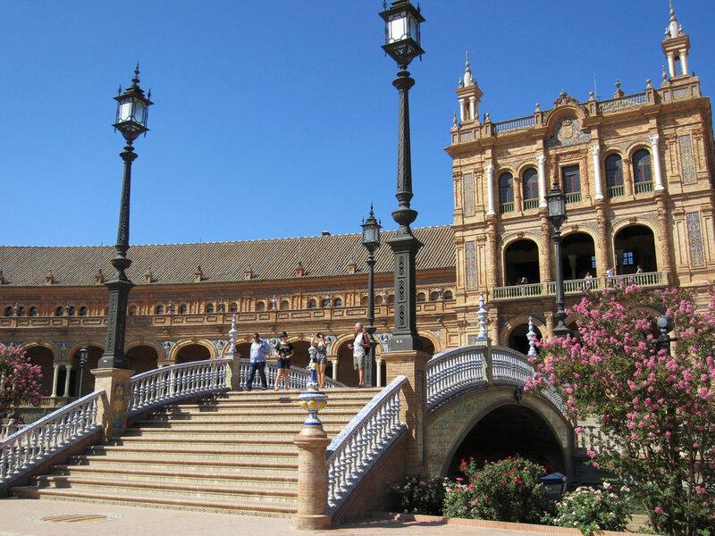 Séville, la place d'Espagne