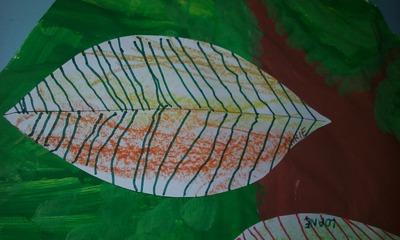 Créations autour de l'arbre en automne (MS)