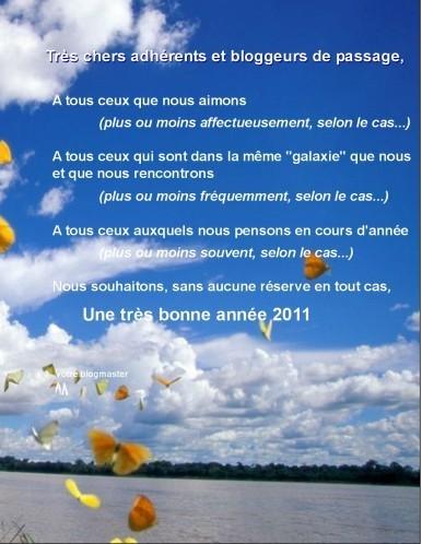 Blog voeux 2011