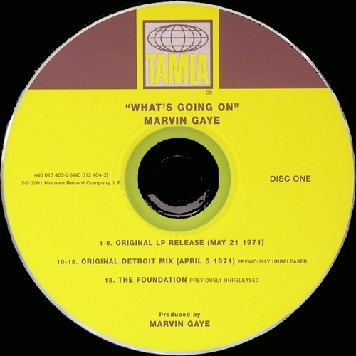 "Marvin Gaye : Album "" What's Going On "" Tamla Records TS 310 [ US ]"