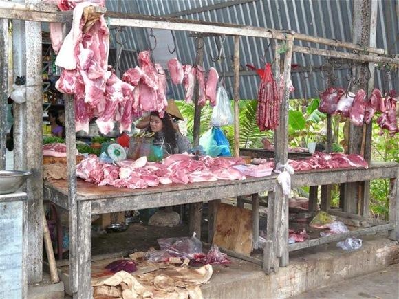 une petite boucherie vietnamienne;