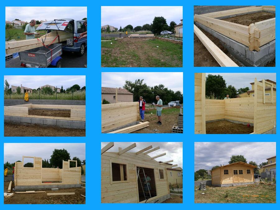 3 AOÛT 2009 CONSTRUCTION DU CHALET