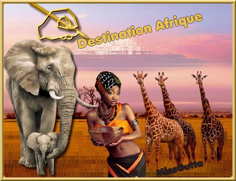 Destination Afrique  pour amie Mary Poppins !