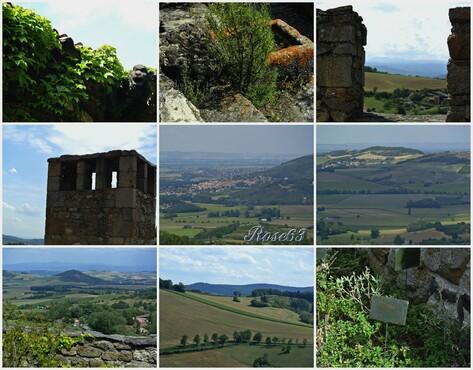 Le château de Busséol veille sur la campagne environnante