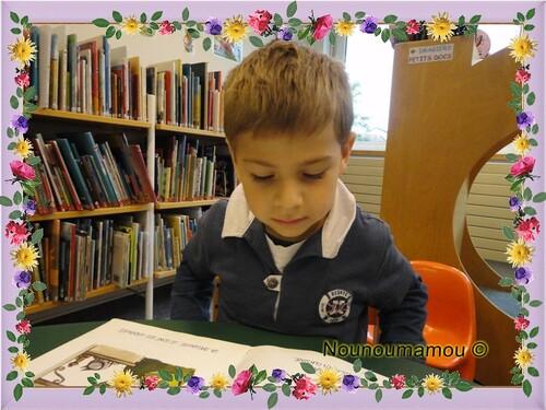 Première sortie à la bibliothèque pour Clémence