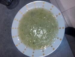 soupe de pâtisson persil aux vermicelles