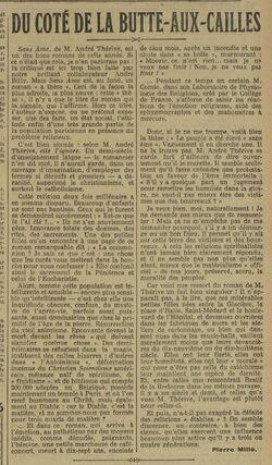 André Thérive - Du côté de la Butte-aux-Cailles (L'OEuvre, 27 mars 1928)