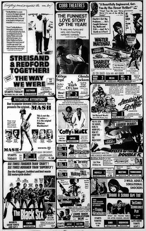 BOX OFFICE USA DU 29/11/1973 AU 05/12/1973