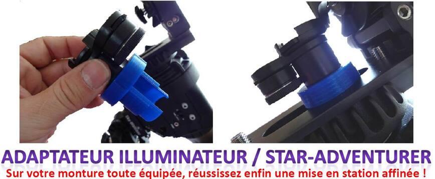 adaptateur illuminateur,star-adventurer
