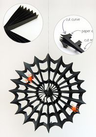 Tutorial papieren spinnenweb halloween