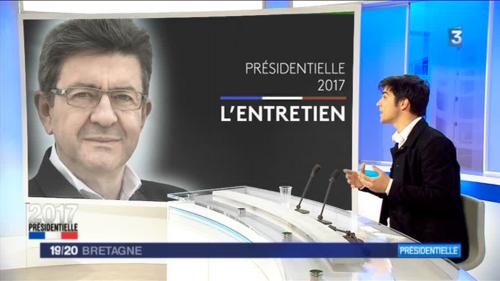 Présidentielle 2017 : Pierre-Yves Cadalen a défendu ce vendredi 21 avril sur France3-Bretagne, le programme de la France Insoumise et de son candidat Jean-Luc Mélenchon (F3-Bretagne 21/04/2017)