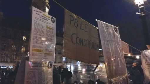 Pôle Constitution, Nuit Debout, Place de la République