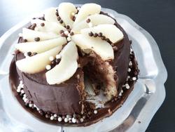 charlotte poire / chocolat